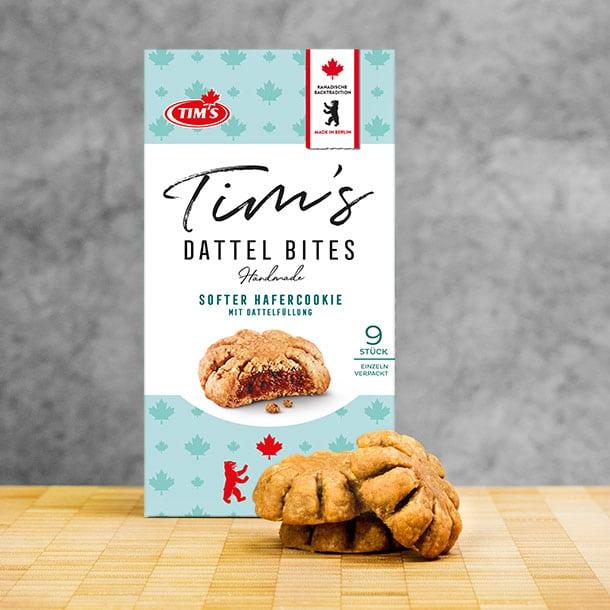 Dattel Bites Tims Kanadische Backwaren mit Verpackung