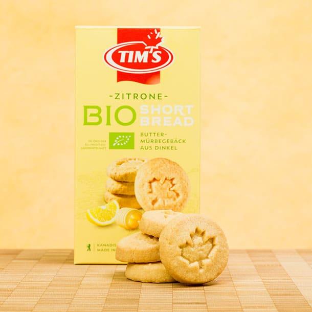 BIO Shortbread Zitrone Tims Kanadische Backwaren mit Verpackung
