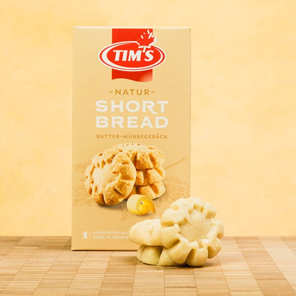 Shortbread Natur Tims Kanadische Backwaren mit Verpackung