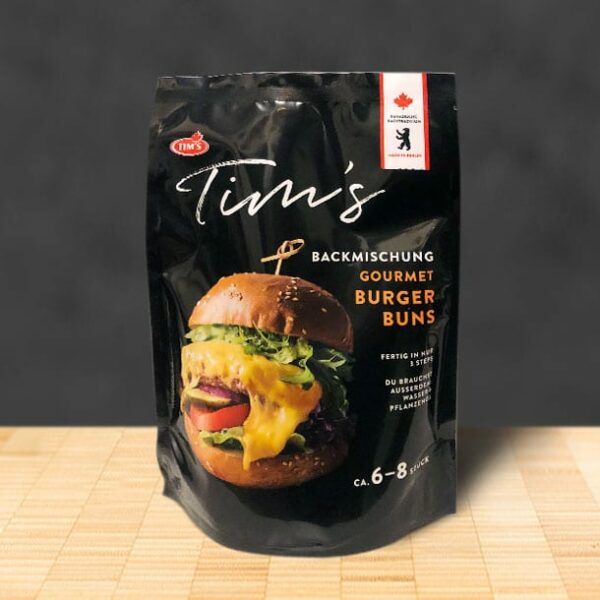 Tims Gourmet Burger Buns Backmischung - Tims Kanadische Backwaren