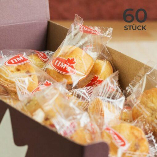 60 Stück Mini Blondies im Vorteilspack einzeln verpackt - closeup